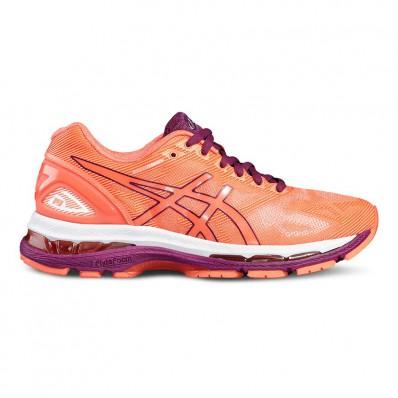 Soldes chaussures running asics gel nimbus 19 femme gris asics prix en cours 46348